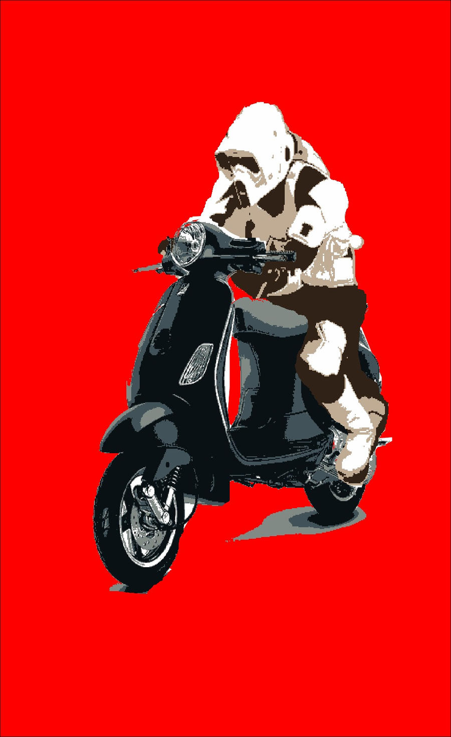 vespa trooper by markcrossey