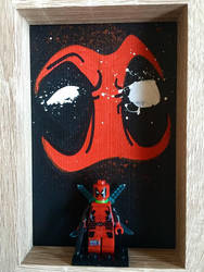 Deadpool lego frame