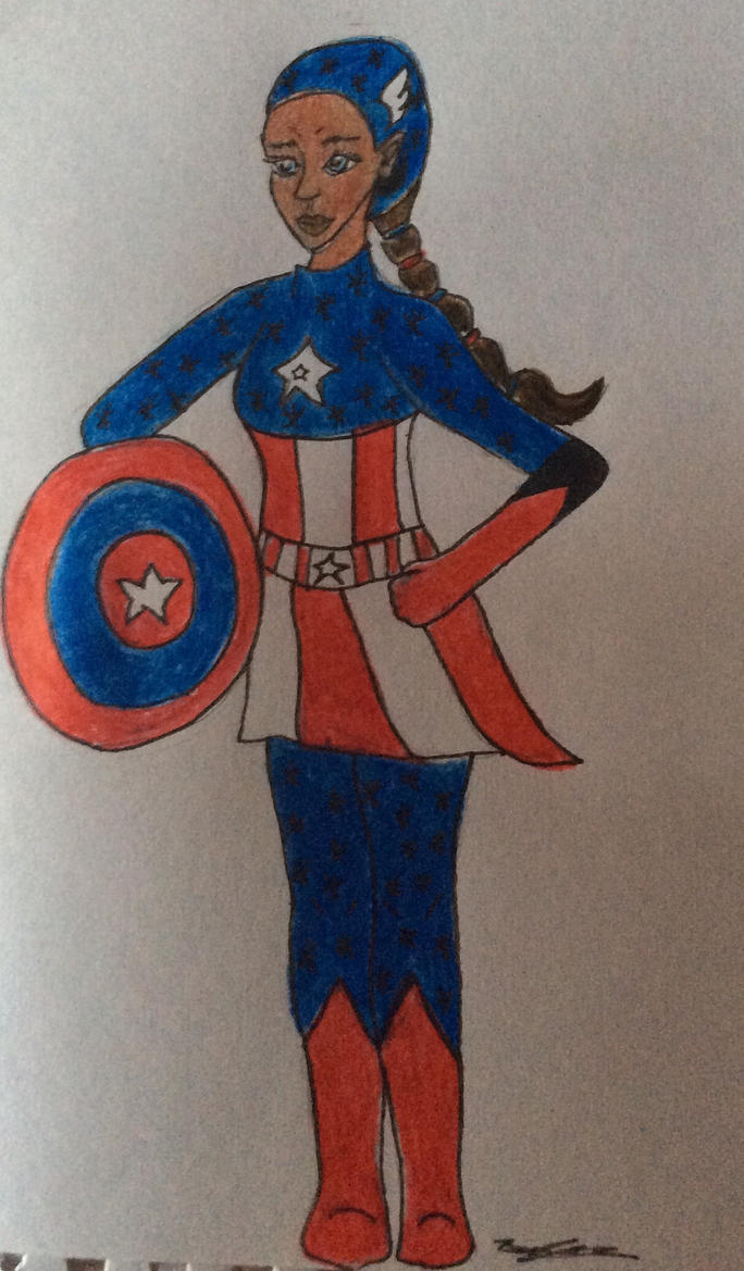 (Fem) Captain America by Sweeneygirl310593