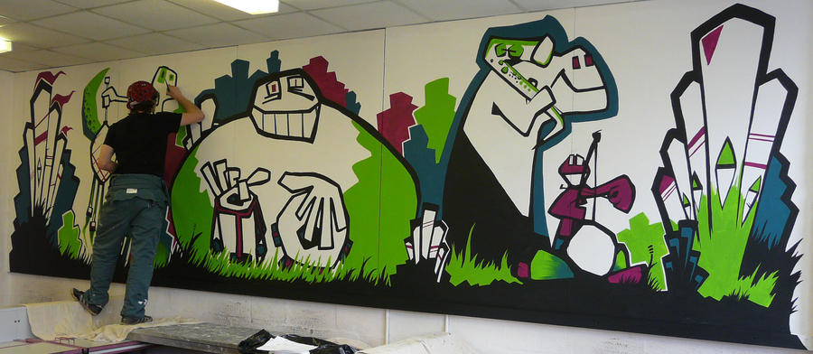 Music classroom mural by dxtor on deviantart for Classroom mural