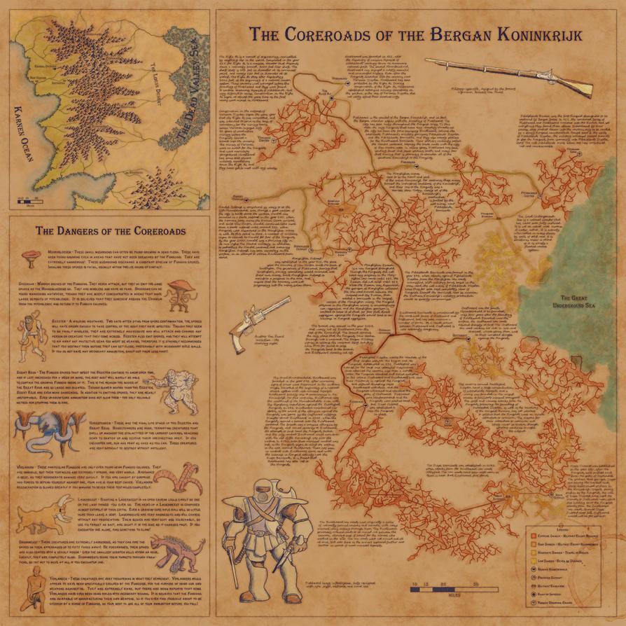 Coreroads of the Bergan Dwarfs by aferlane