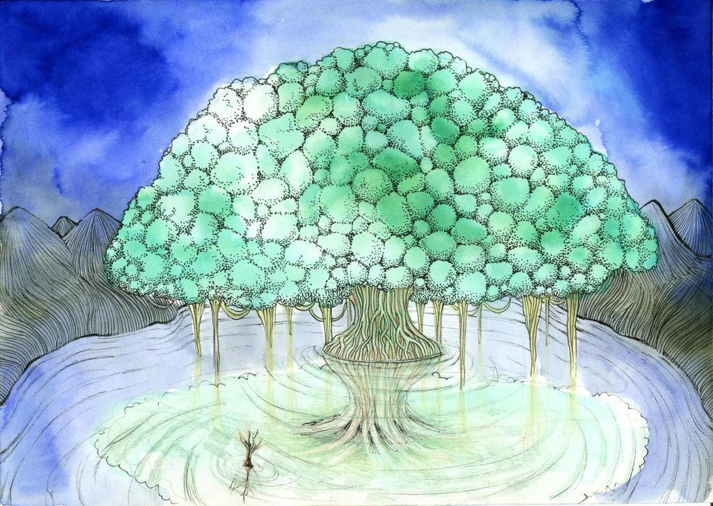 Night Tree by Gawarin