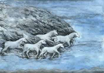 Cloudy unicorns by Gawarin