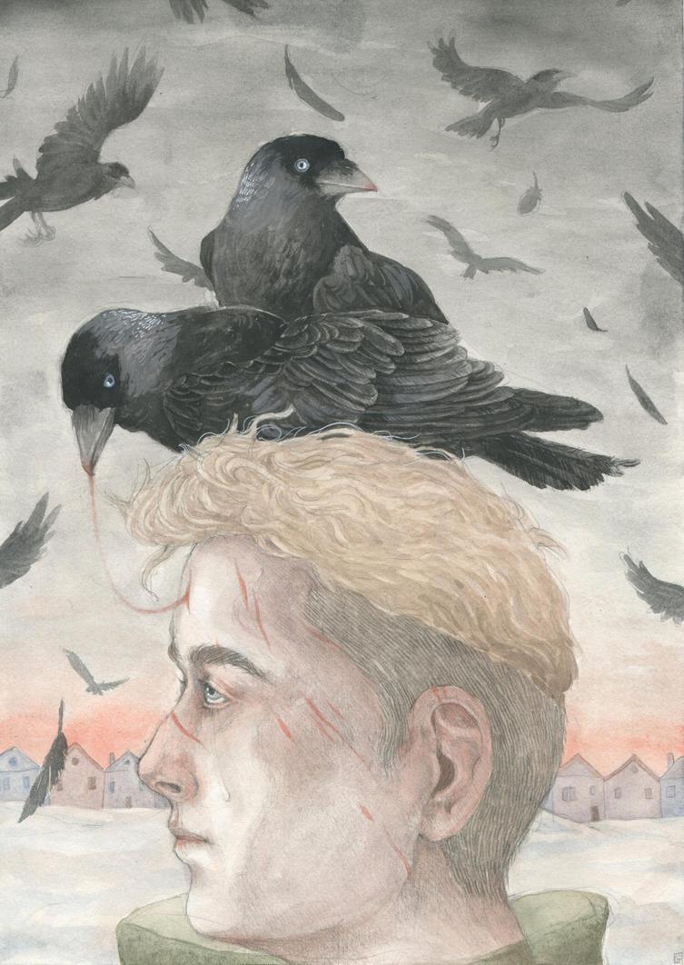 On wings of birds - jackdaws by Gawarin