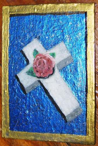 Cross ACEO Painting by mintdawn