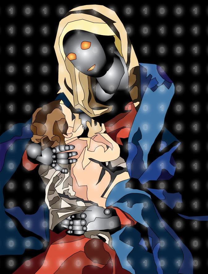 Future Madonna with Binary by mintdawn