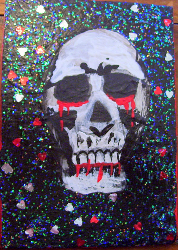 Human Skull ACEO by mintdawn