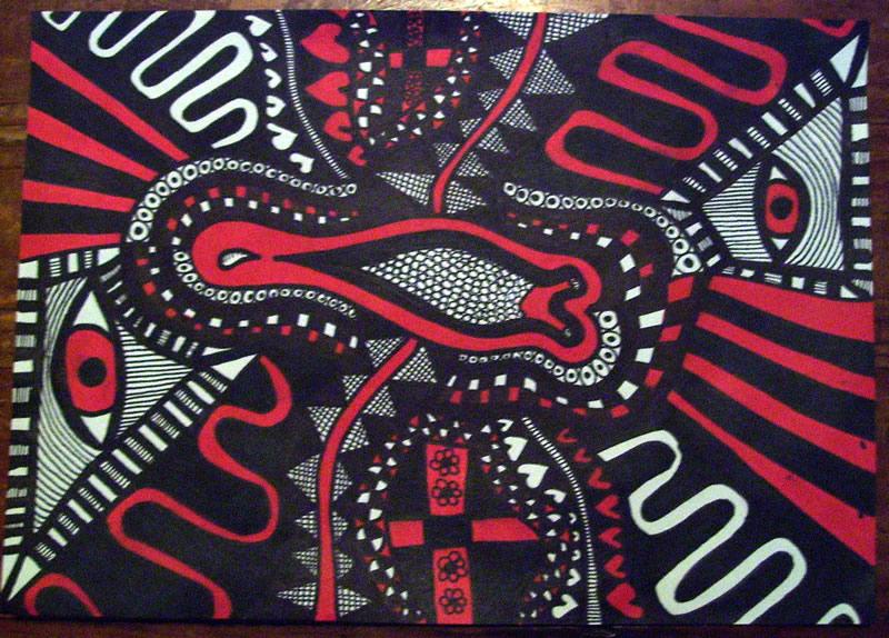Red and Black Slug by mintdawn