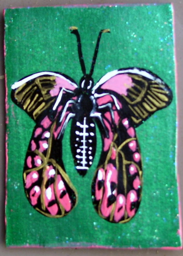 Pink Butterfly for Turtlefairy by mintdawn