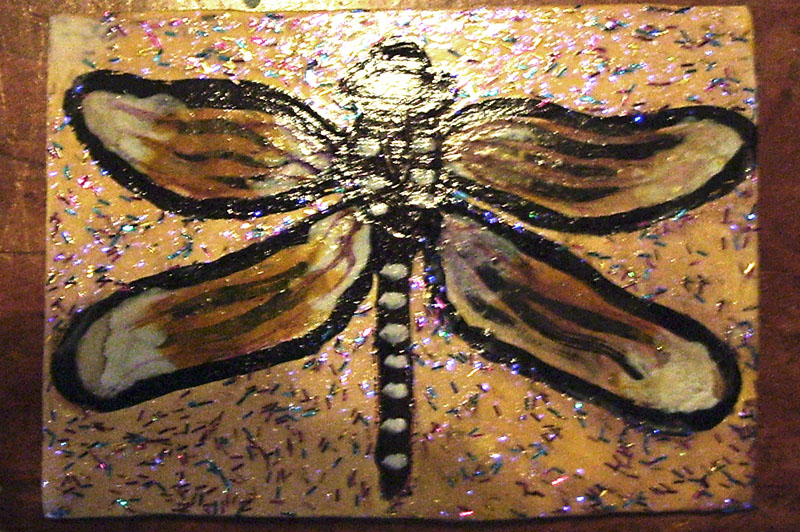 Dragonfly aceo for turtlefairy by mintdawn