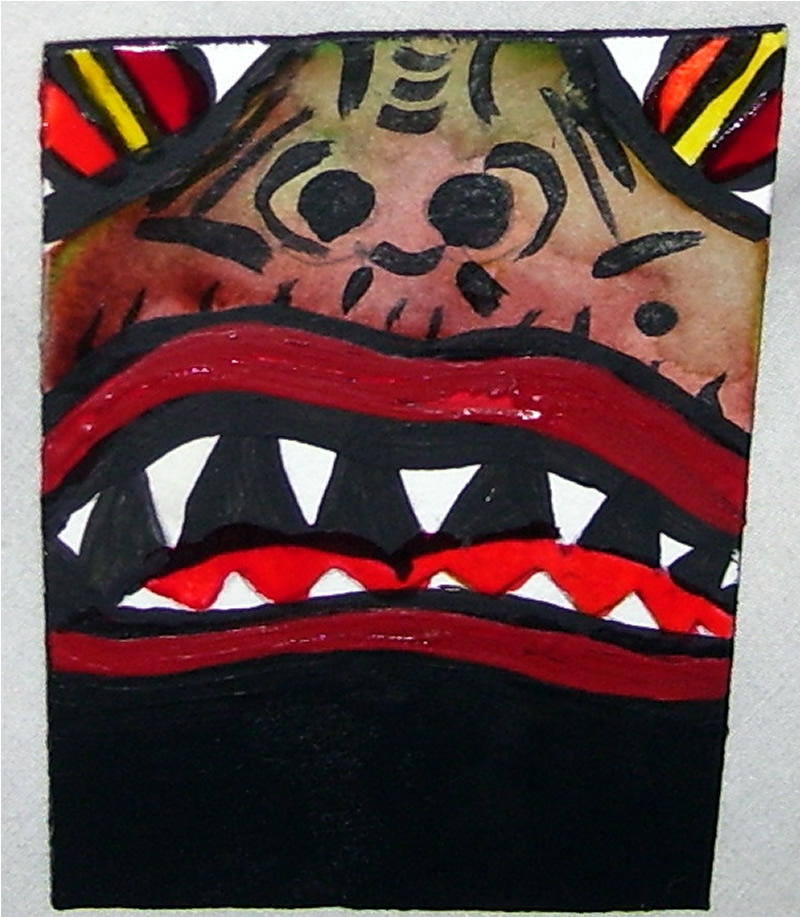 September Monster Aceo by mintdawn