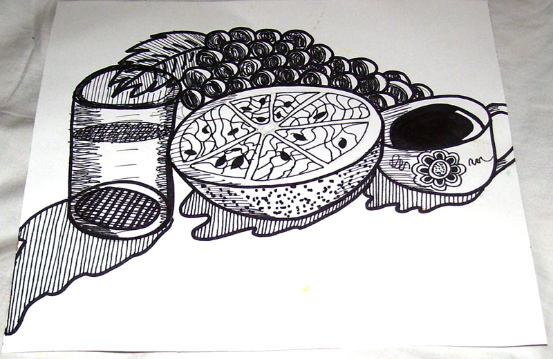 Ink Still Life by mintdawn