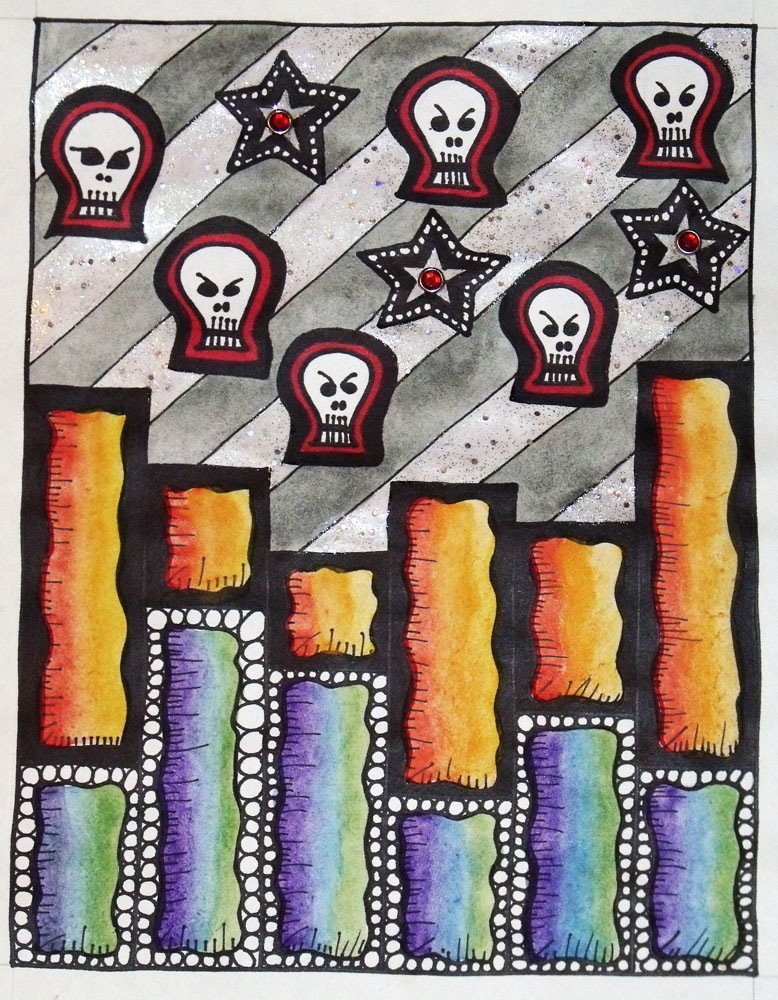 Shooting Stars and Skulls by mintdawn