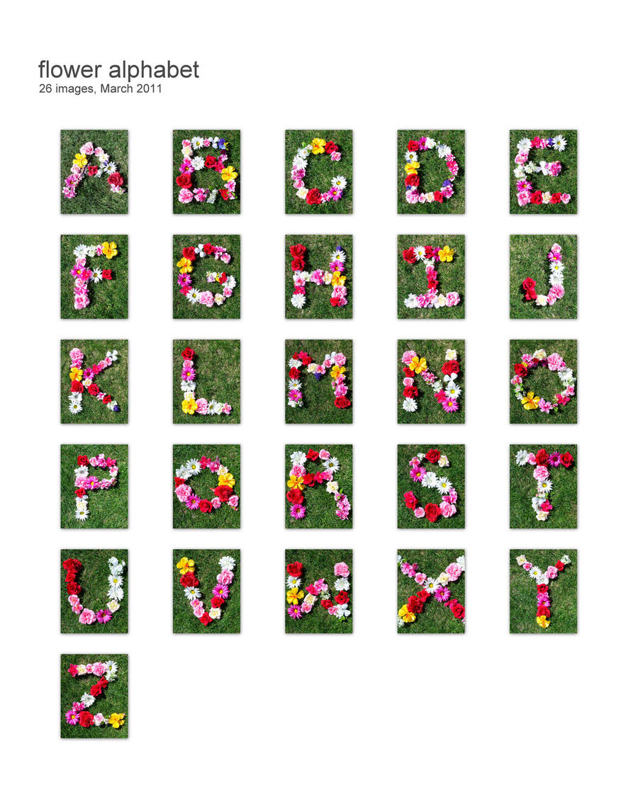 Spring Flower Alphabet by mintdawn