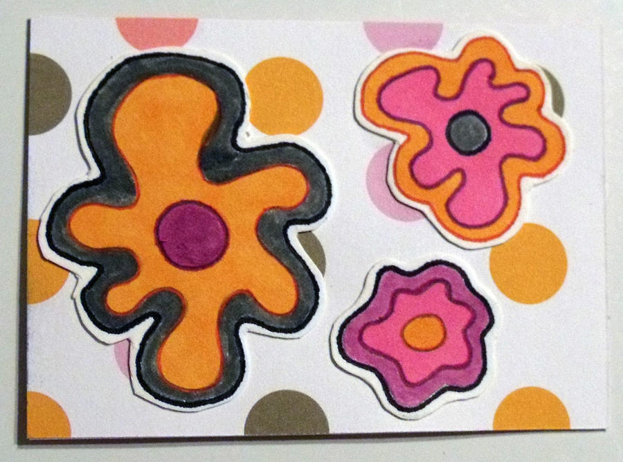 Funky Flowers ATC 2 by mintdawn