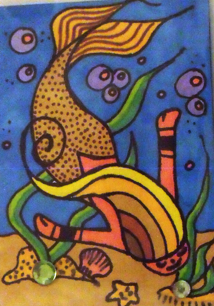 Diving Mermaid atc by mintdawn