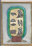 Egyptian Cartouche ATC