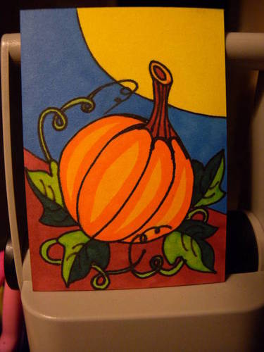 Halloween Harvest ATC by mintdawn