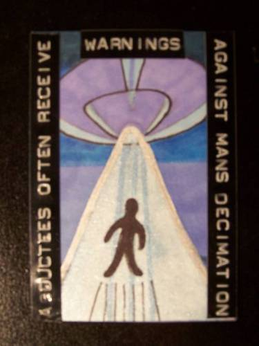 Alien Abduction ATC by mintdawn