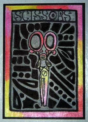 Scissors ATC by mintdawn