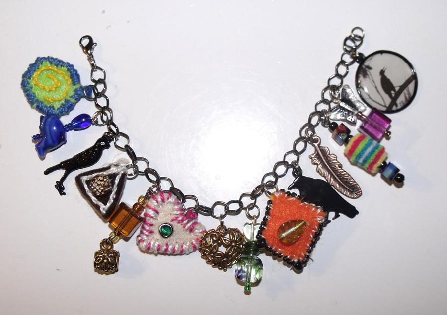 Raven Charm Bracelet by mintdawn