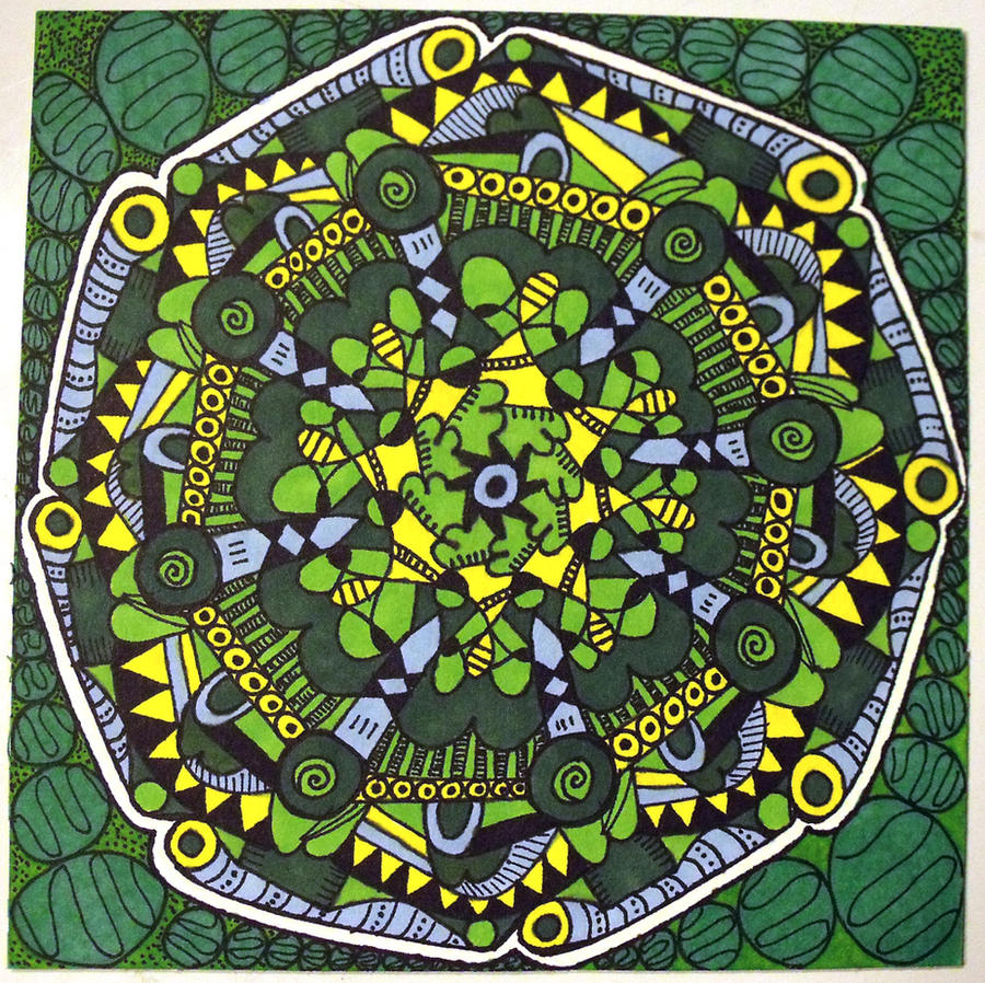 Green Mandala by mintdawn