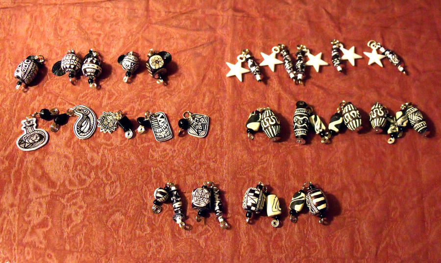 Zentangle Charms by mintdawn