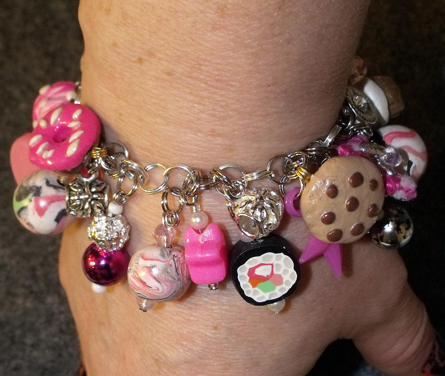 Treats and Sweets Charm Bracelet by mintdawn