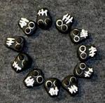Black Skulls Polyclay