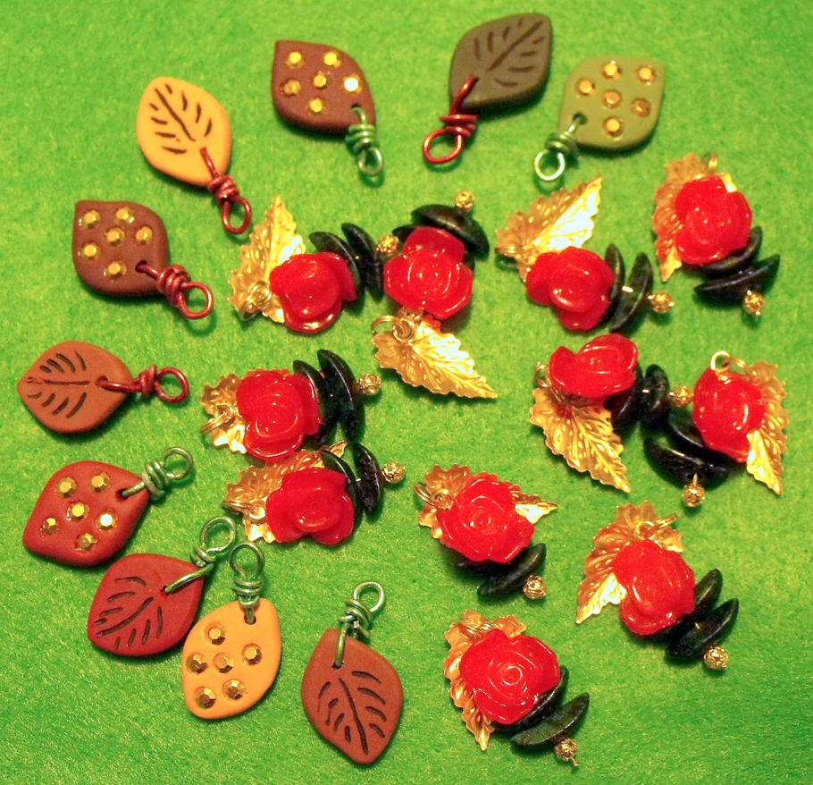 Autumn Leaves Charms by mintdawn