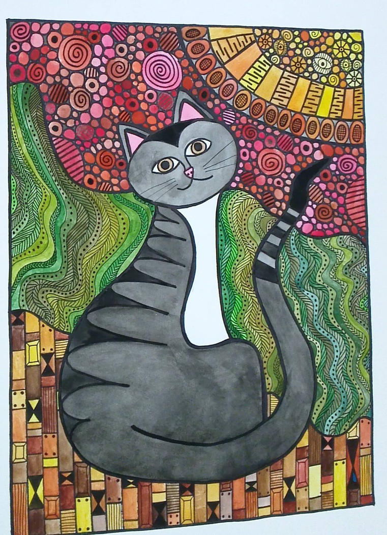 Watercolor Cat by mintdawn