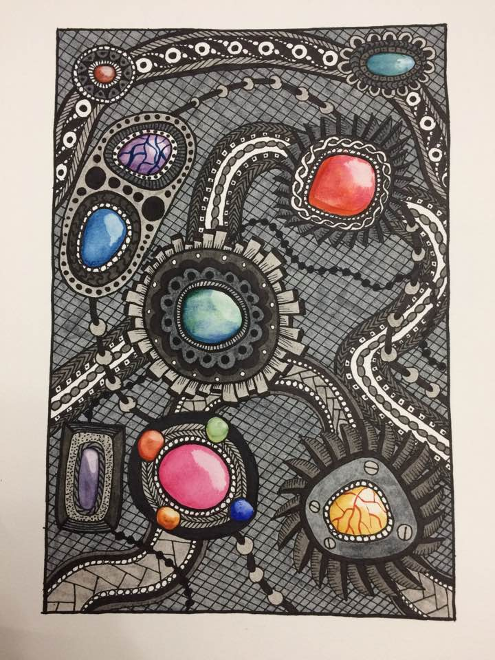 Zentangle Gems by mintdawn