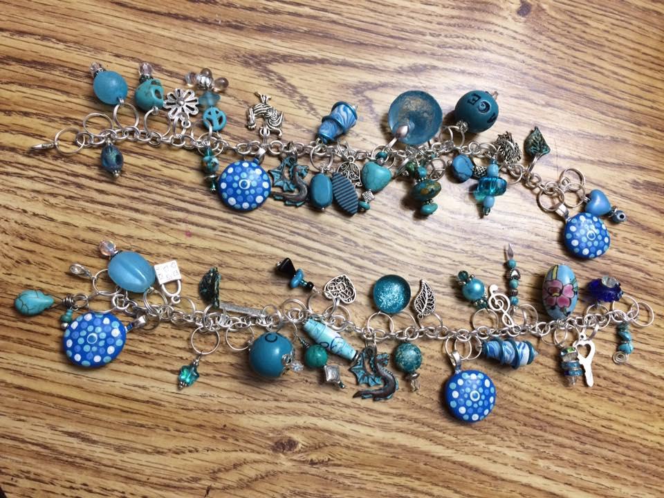 Aqua Bracelets by mintdawn