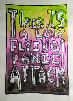 Low Flying Panic Attack Watercolor