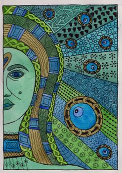 Water Goddess Watercolor