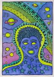 God Speaking Sound Watercolor