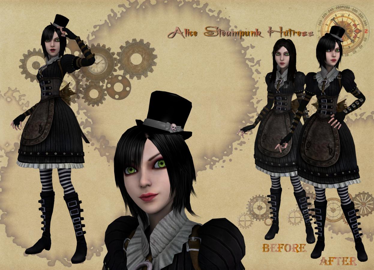 -Mesh-Mod- Steampunk Hatress by Lilacatz