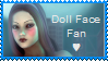 Doll Face Fan Stamp by Lilacatz