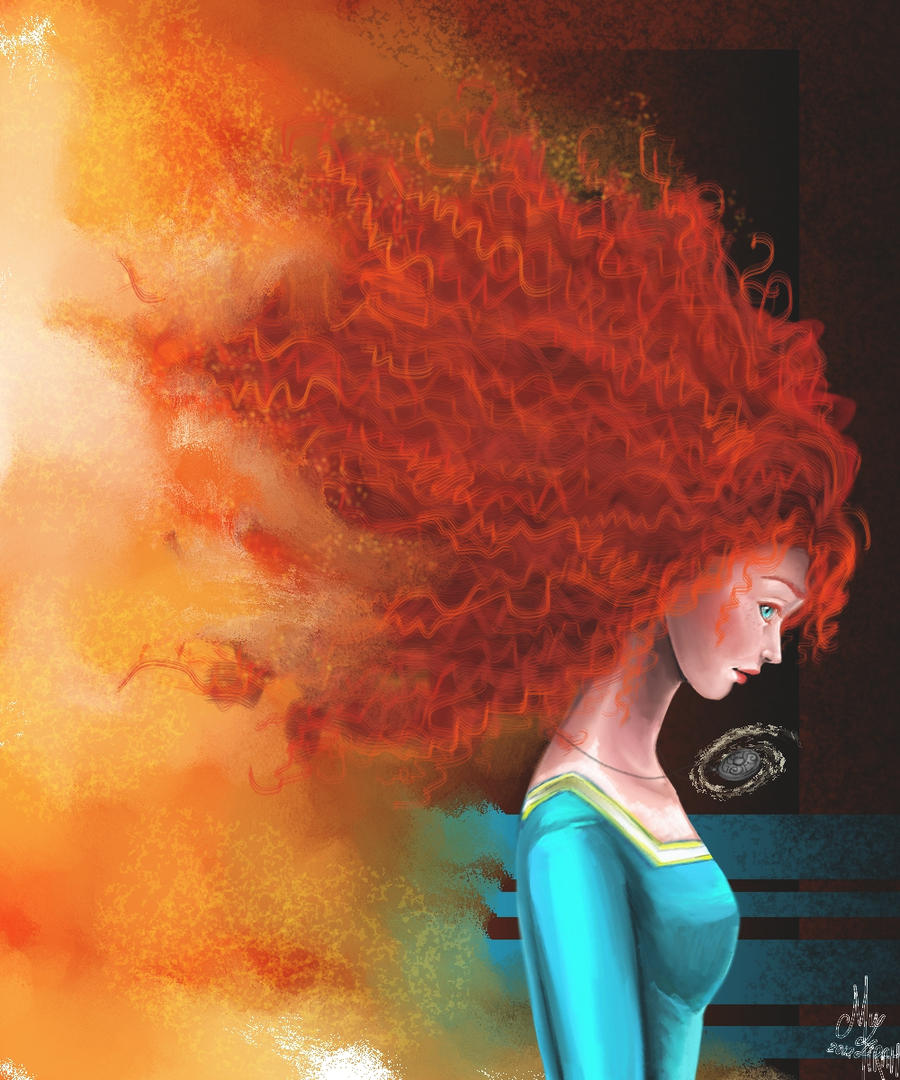The Girl On Fire by thecarefree