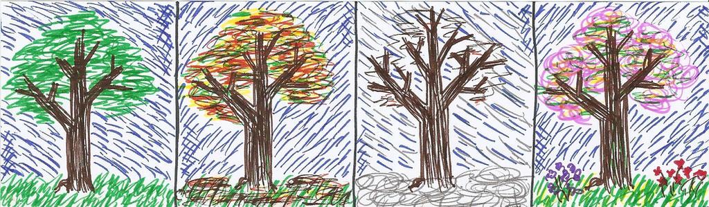 four seasons doodle