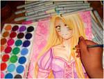 Rapunzel [Watercolor W.I.P]