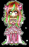 Watermelon Chibi Girl by Lettelira