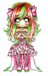Watermelon Chibi Girl