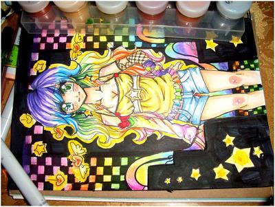 Rainbow Girl WIP by Lettelira