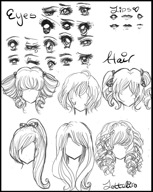 how to draw manga hair female