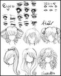 Manga/Anime Eyes and Hair