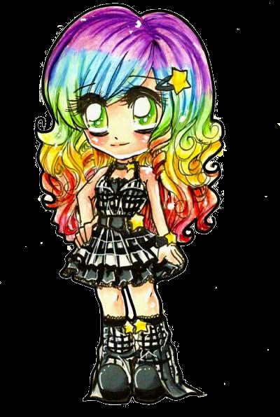 Chibi Rainbow Ducky.. by Lettelira