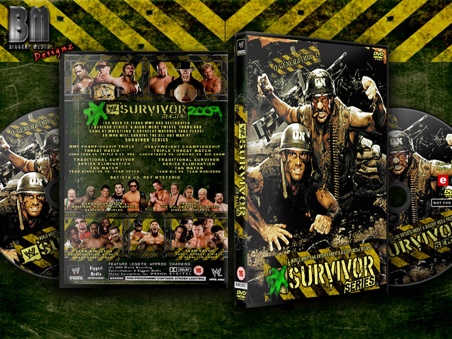 wwe survivor series 2009 by biggertmedia on deviantart