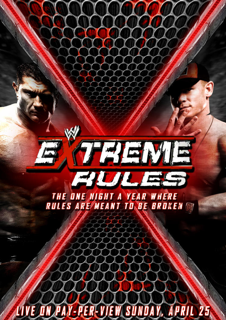 WWE Extreme Rules 2010 Poster by BiggertMedia