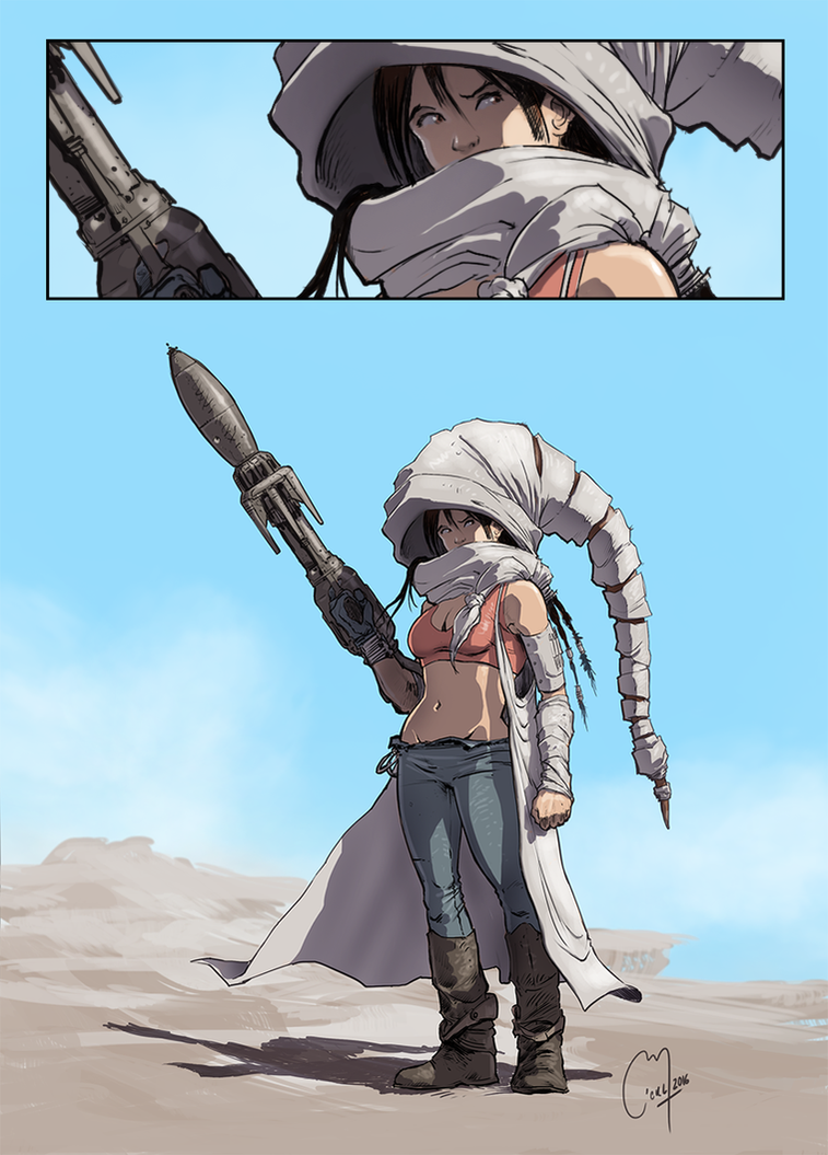 Desert Girl by MickySketchBook